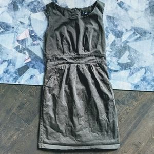 👗 Mossimo Olive Zip-Up Dress